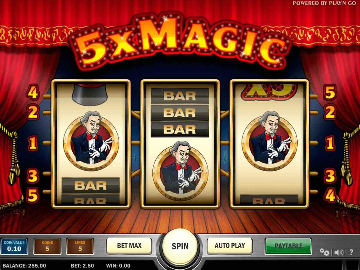 5x magic playn go casinospil online