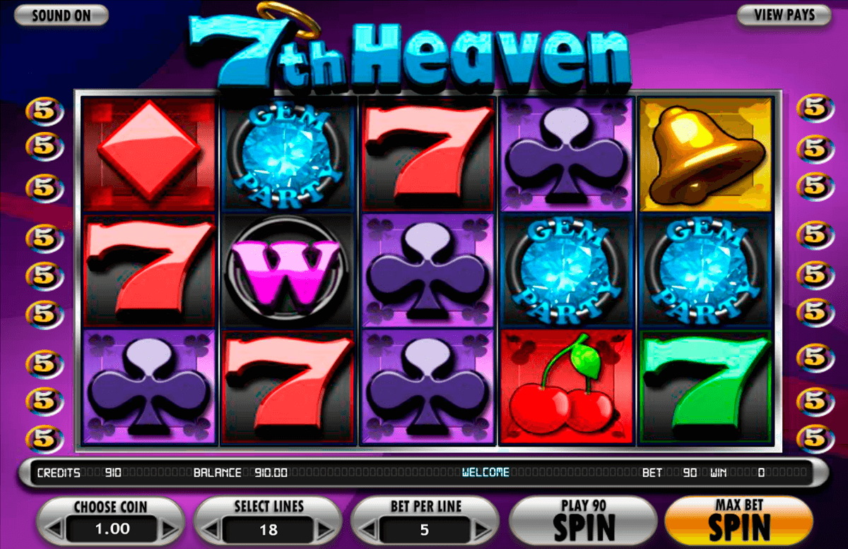 7th heaven betsoft casinospil online