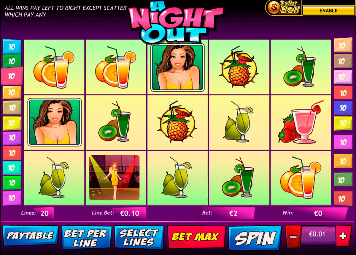 a night out playtech casinospil online