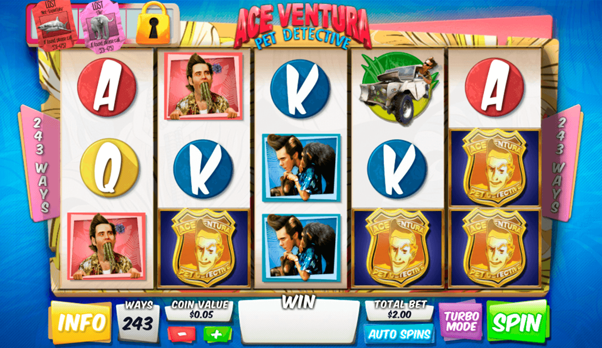 ace ventura pet detective playtech casinospil online