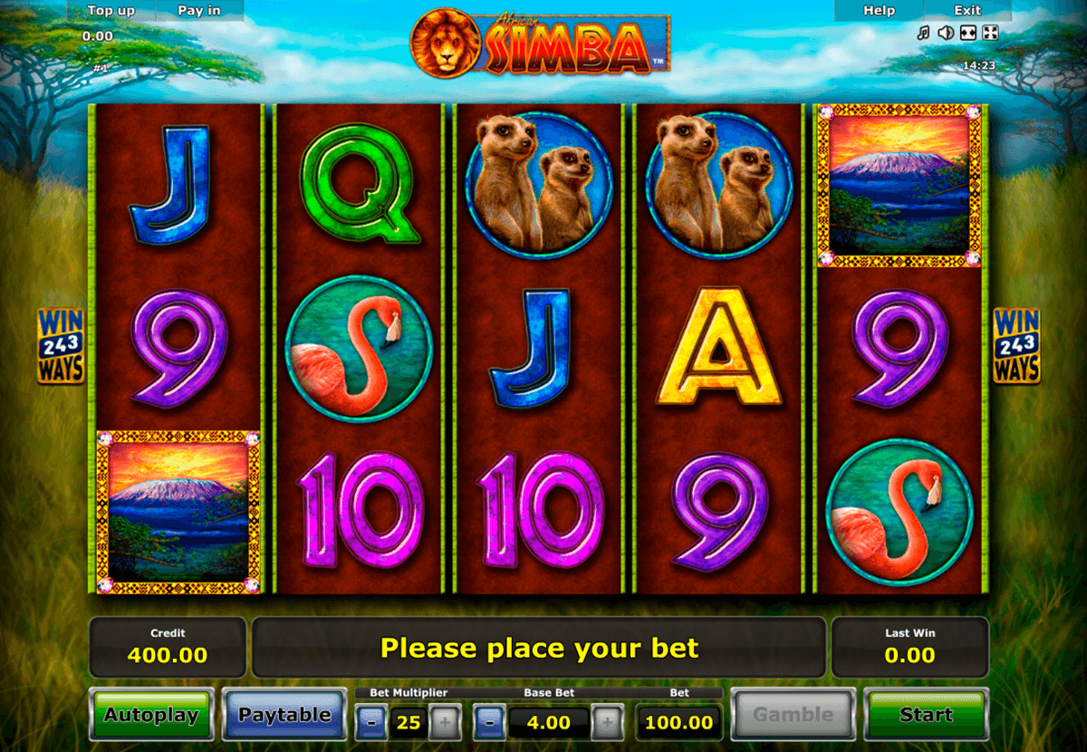 african simba novomatic casinospil online