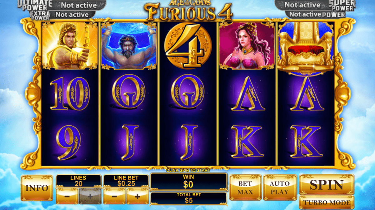 age of the gods furious 4 playtech casinospil online