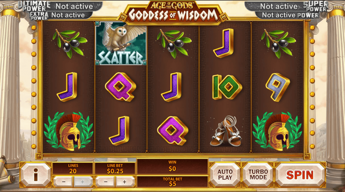 age of the gods goddess of wisdom playtech casinospil online