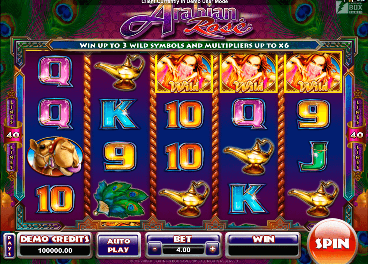 arabian rose microgaming casinospil online