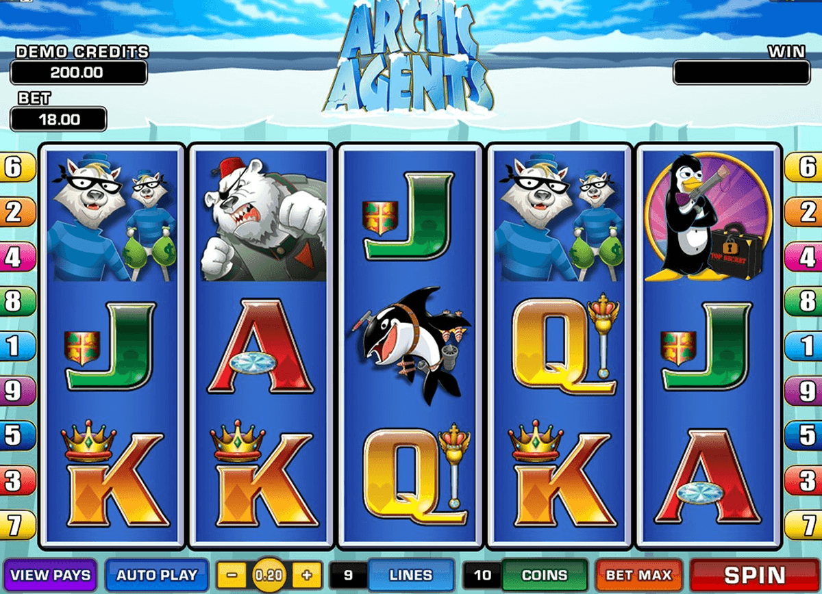 arctic agents microgaming casinospil online