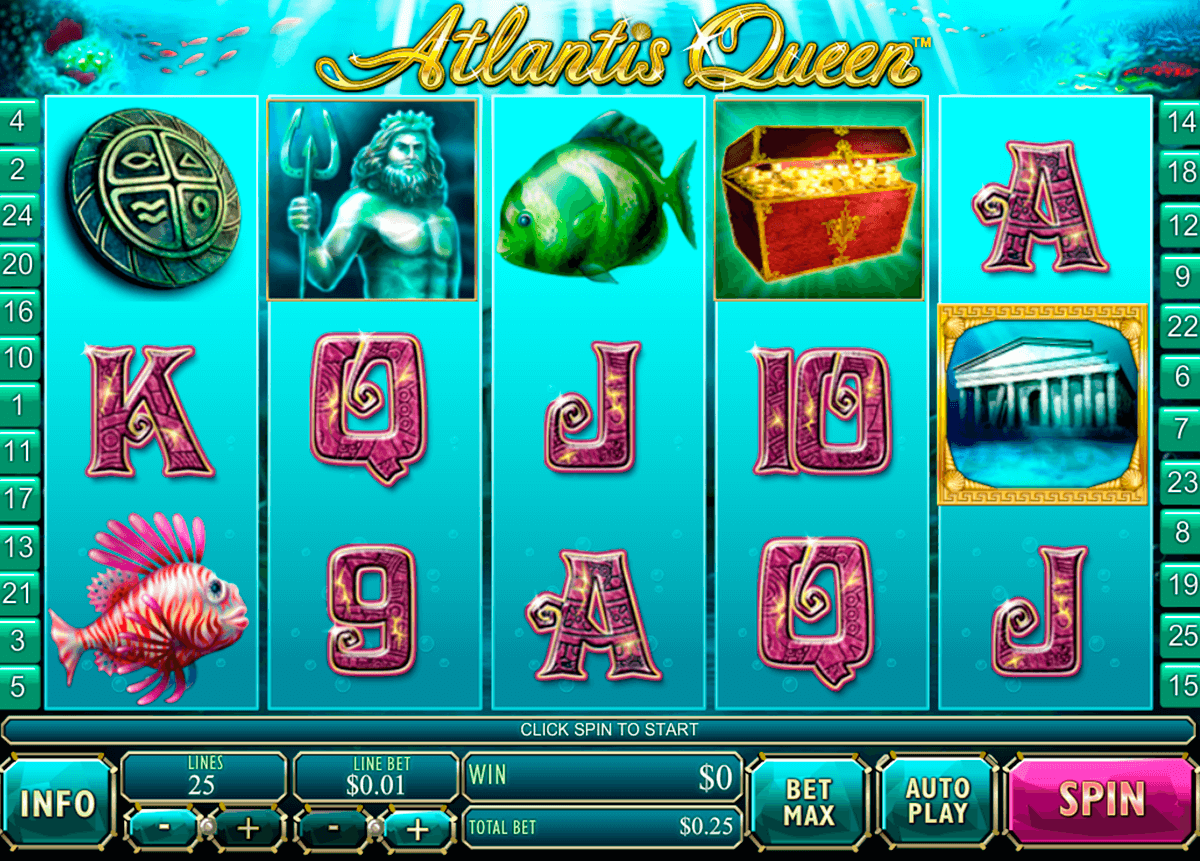 atlantis queen playtech casinospil online