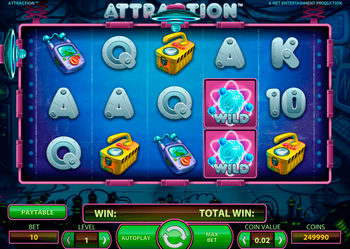 attraction netent casinospil online
