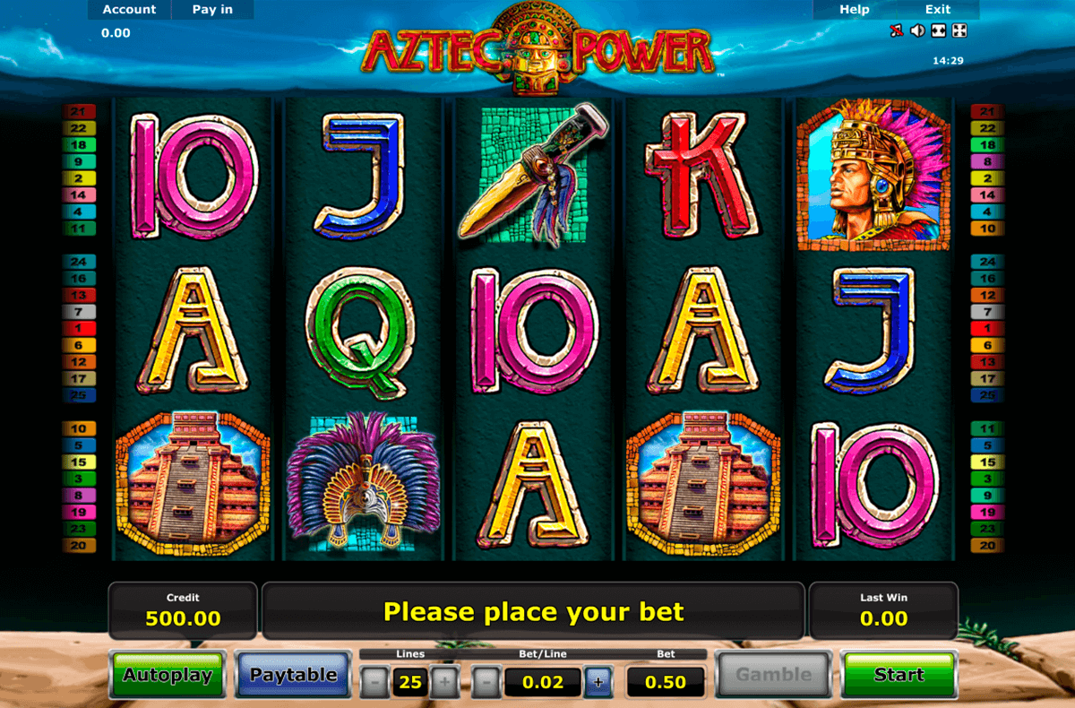 aztec power novomatic casinospil online