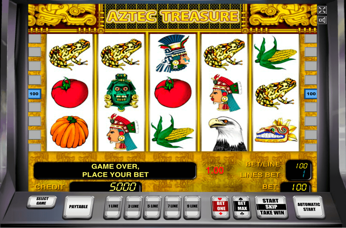 aztec treasure novomatic casinospil online