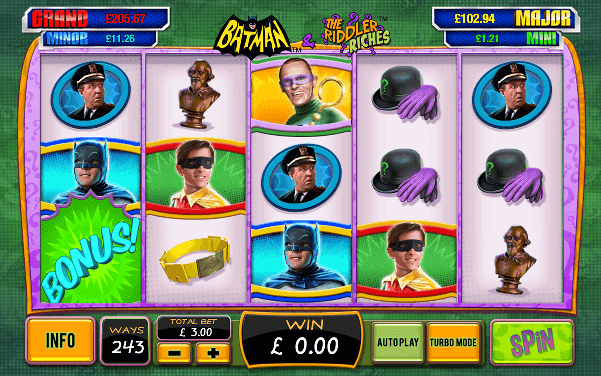 batman the riddler riches playtech casinospil online