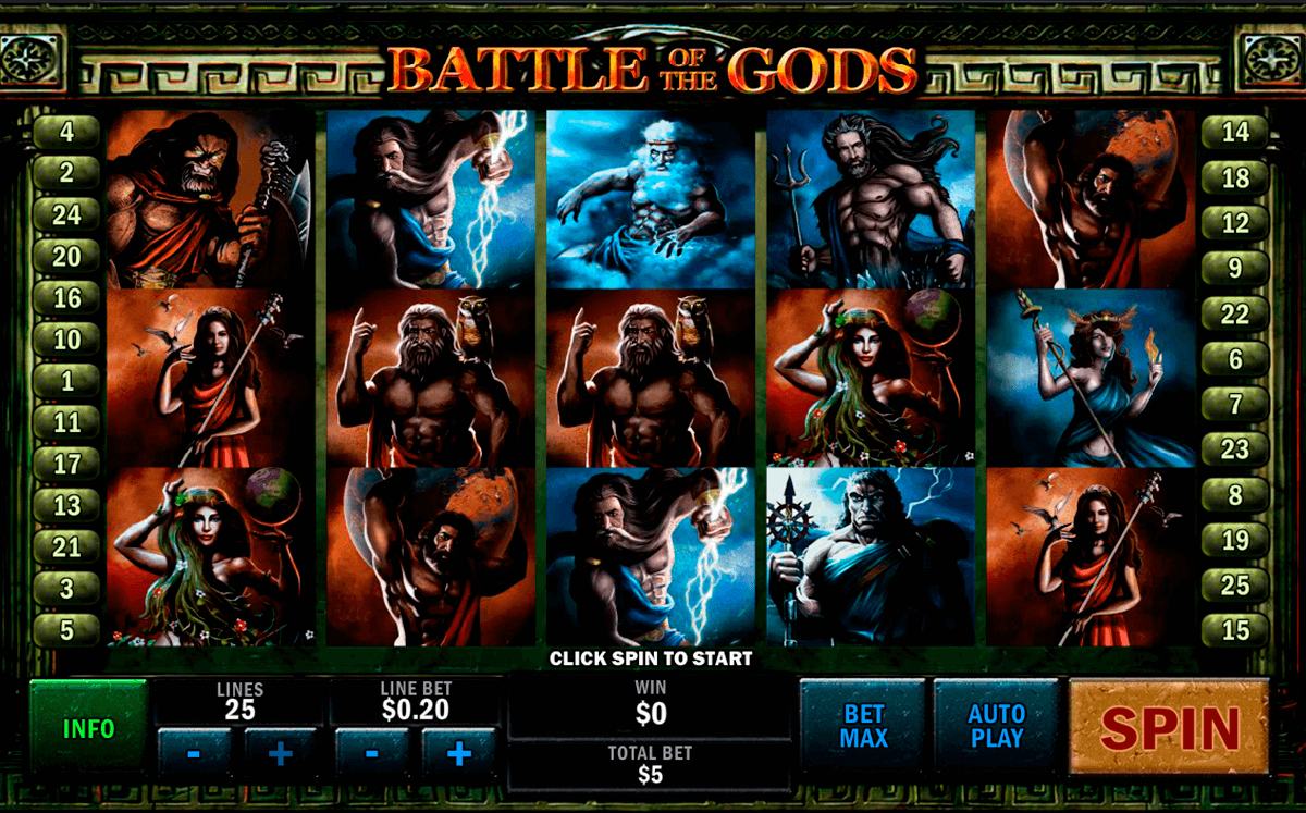 battle of the gods playtech casinospil online