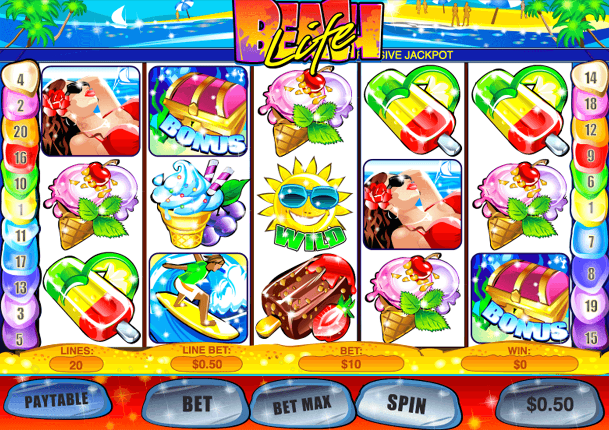 beach life playtech casinospil online