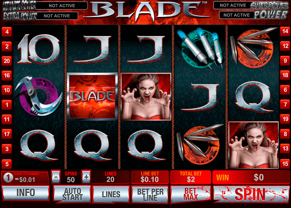 blade playtech casinospil online