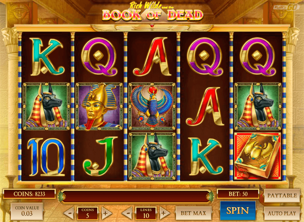 book of dead playn go casinospil online