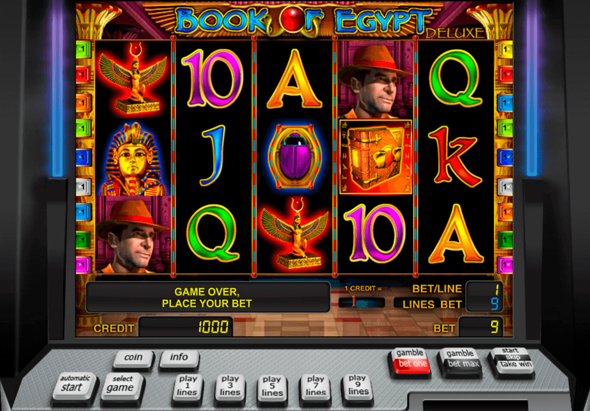 book of egypt deluxe novomatic casinospil online