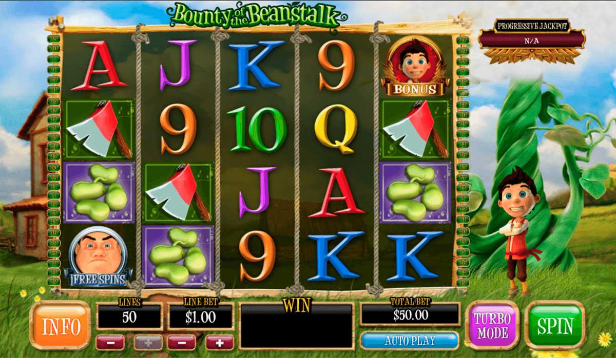 bounty of the beanstalk playtech casinospil online