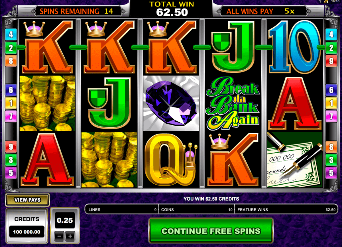 break da bank again microgaming casinospil online