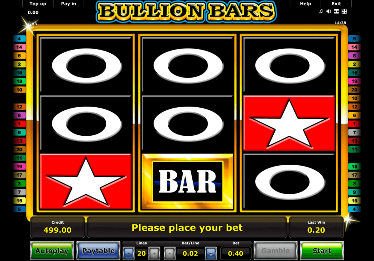bullion bars novomatic casinospil online