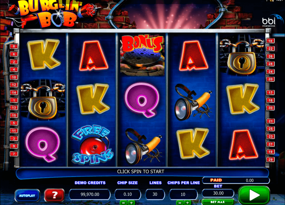 burglin bob microgaming casinospil online