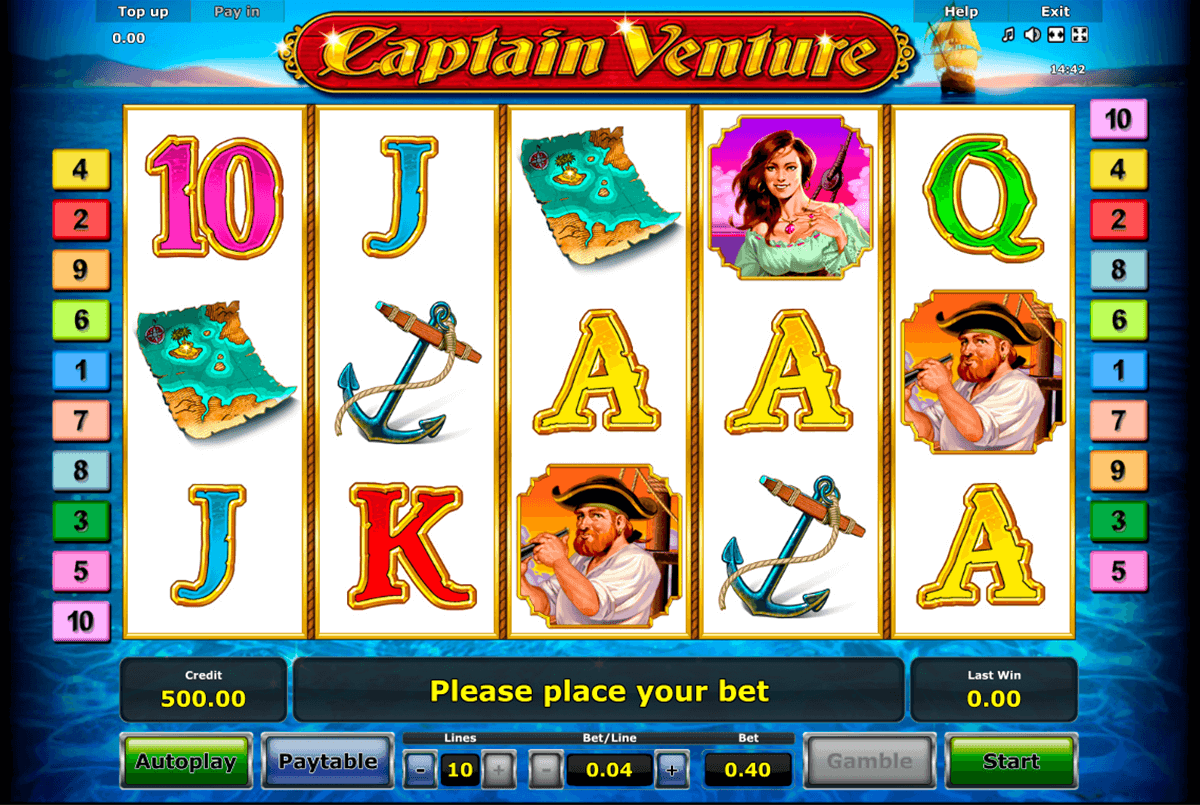 captain venture novomatic casinospil online