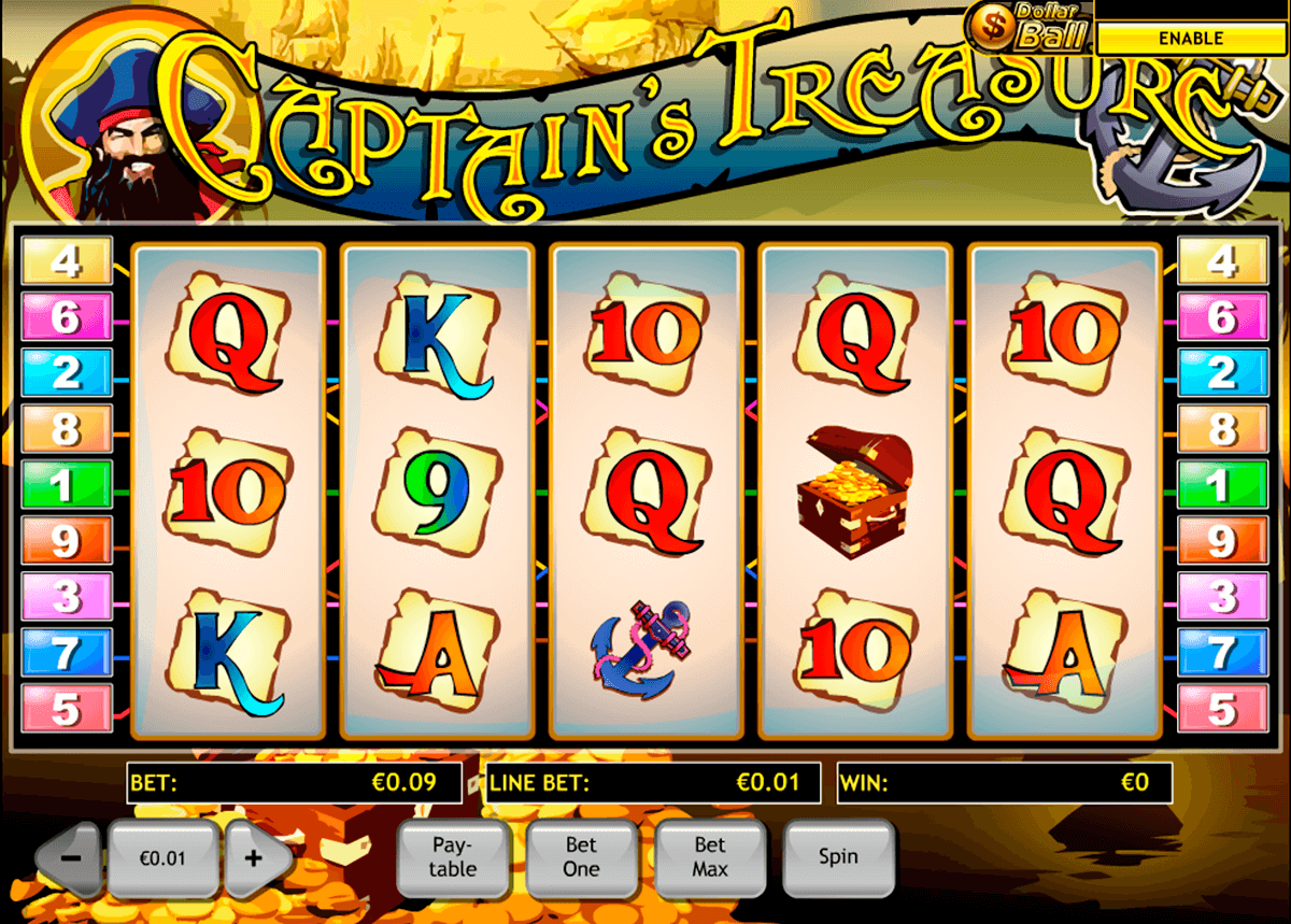 captains treasure playtech casinospil online