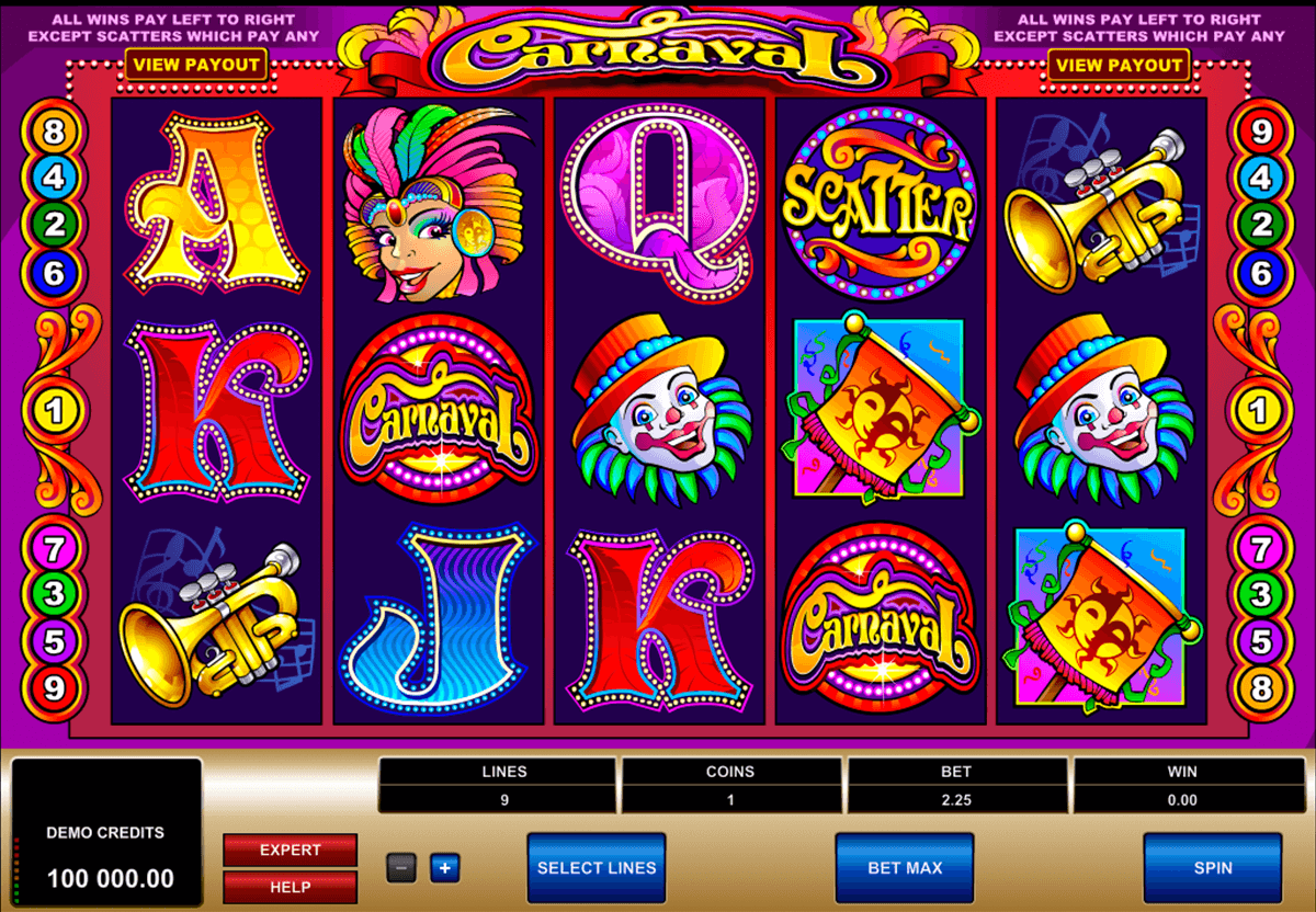 carnaval microgaming casinospil online