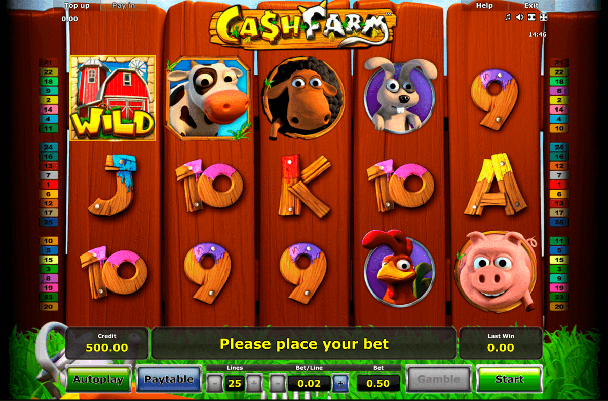 cash farm novomatic casinospil online