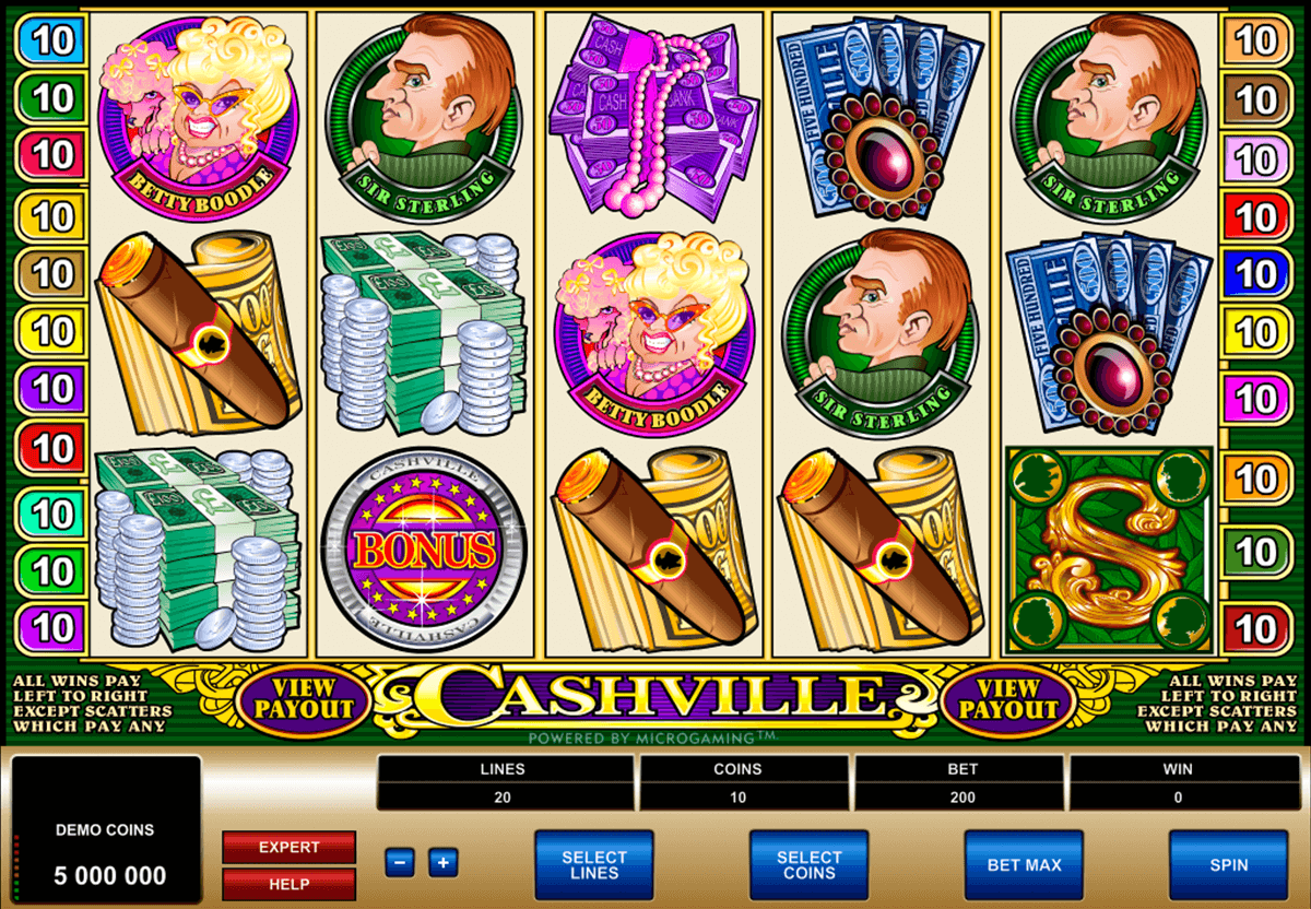 cashville microgaming casinospil online