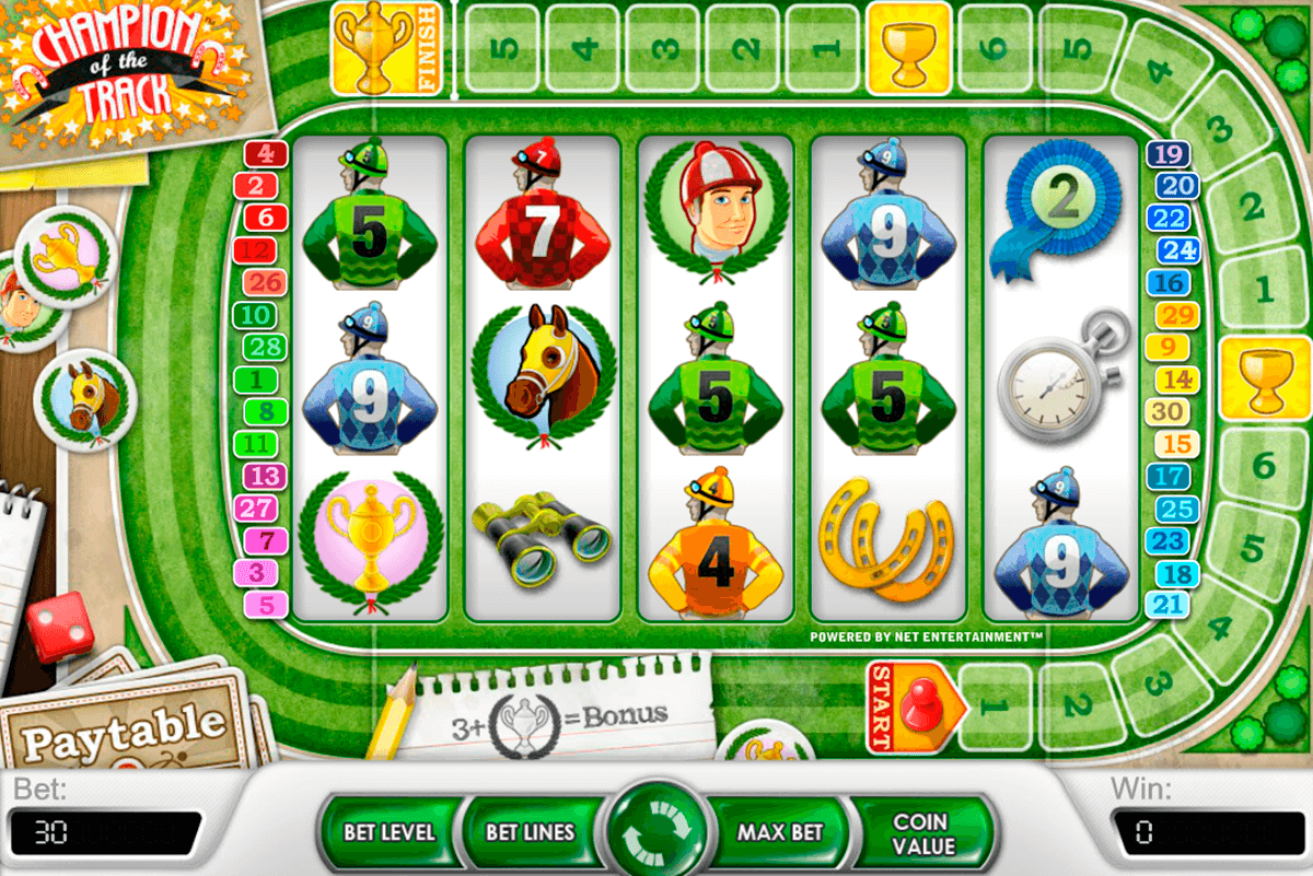 champion of the track netent casinospil online