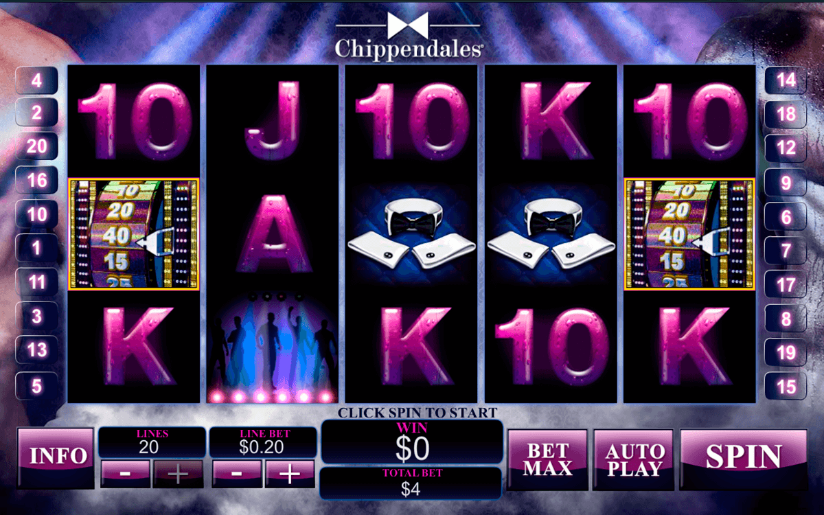 chippendales playtech casinospil online