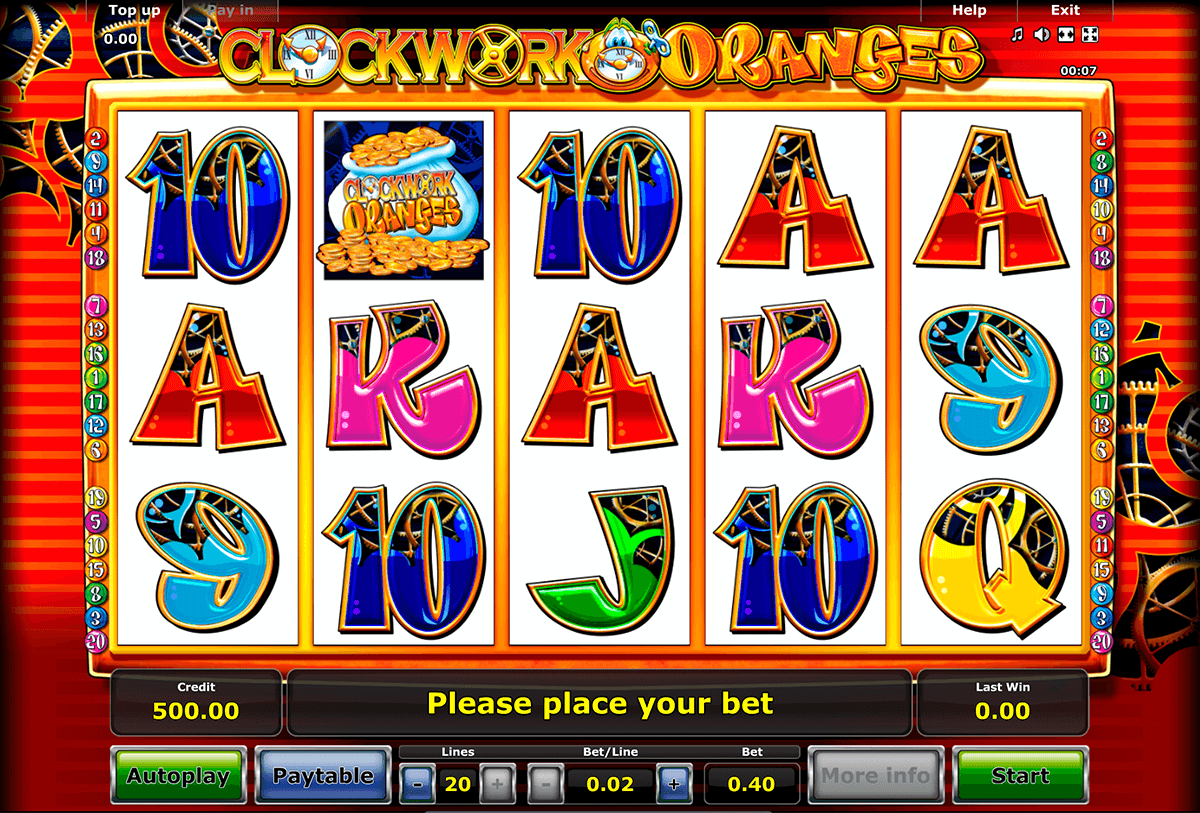 clockwork oranges novomatic casinospil online