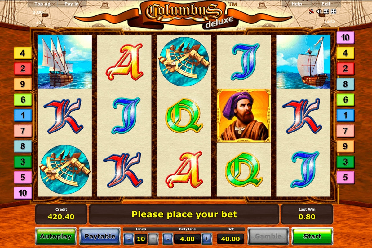 columbus deluxe novomatic casinospil online