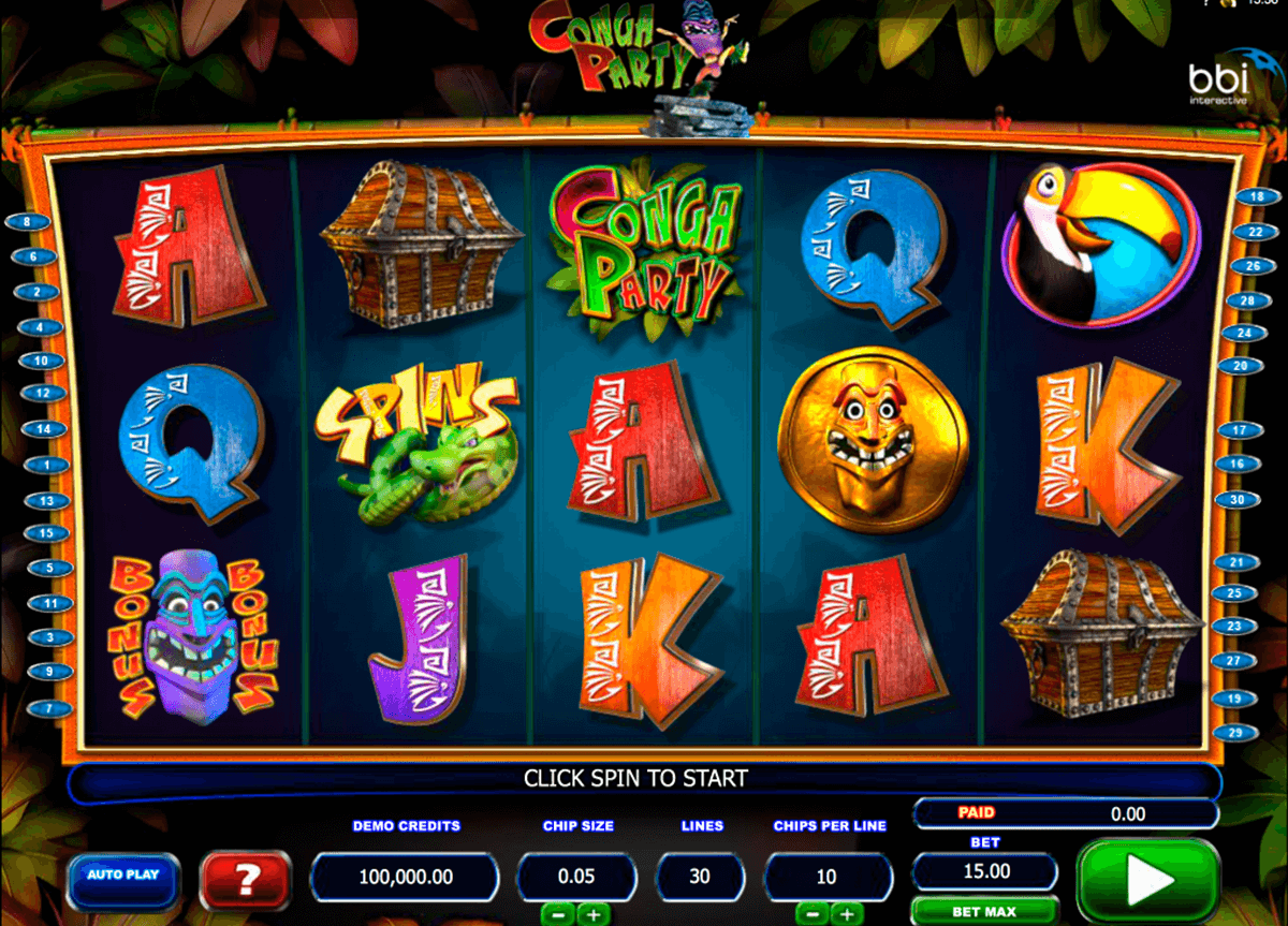 conga party microgaming casinospil online
