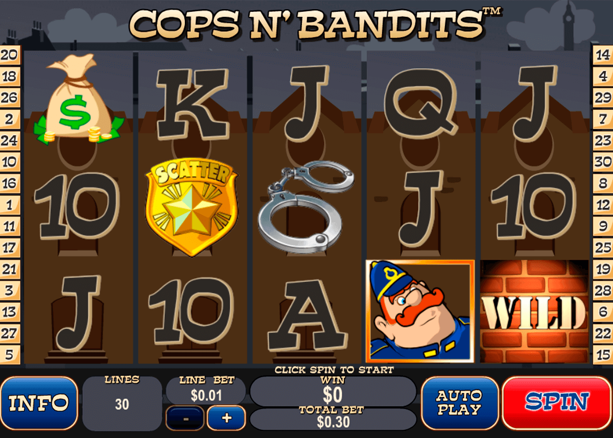 cops n bandits playtech casinospil online
