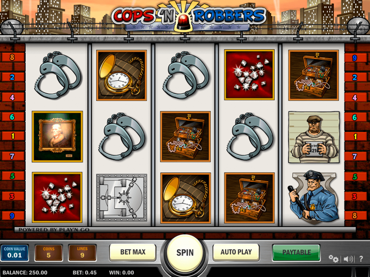cops n robbers playn go casinospil online