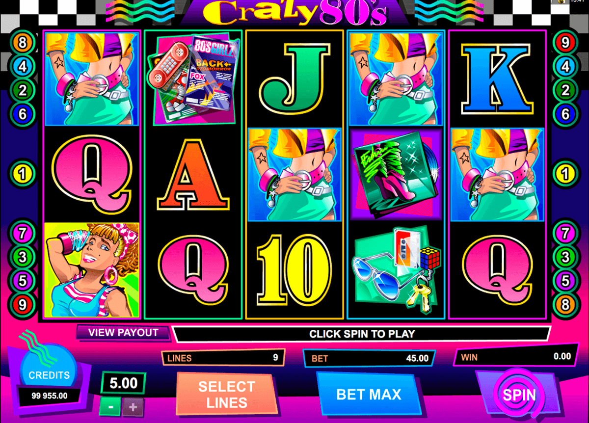 crazy80s microgaming casinospil online