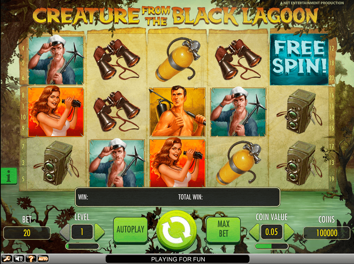 creature from the black lagoon netent casinospil online