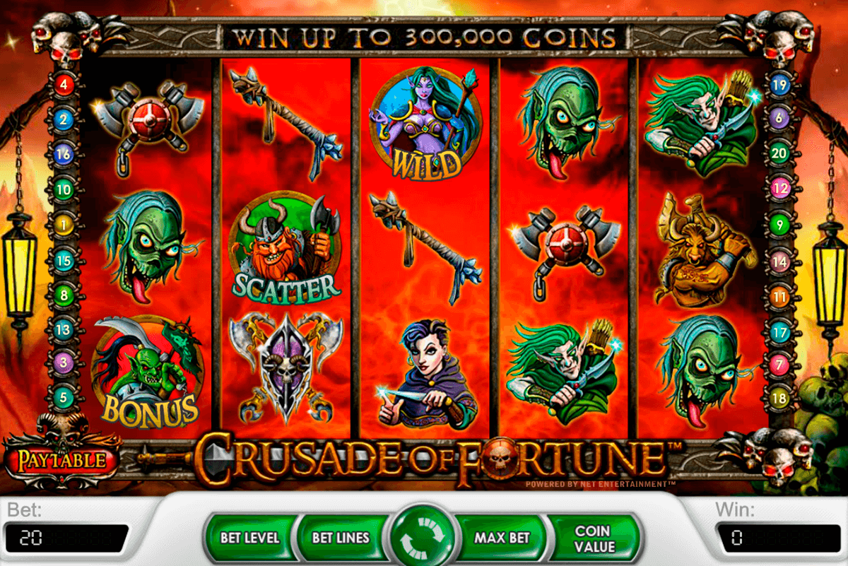crusade of fortune netent casinospil online