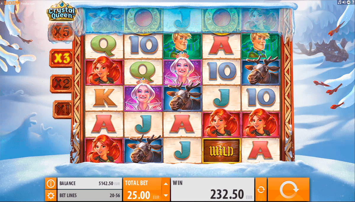 crystal queen quickspin casinospil online