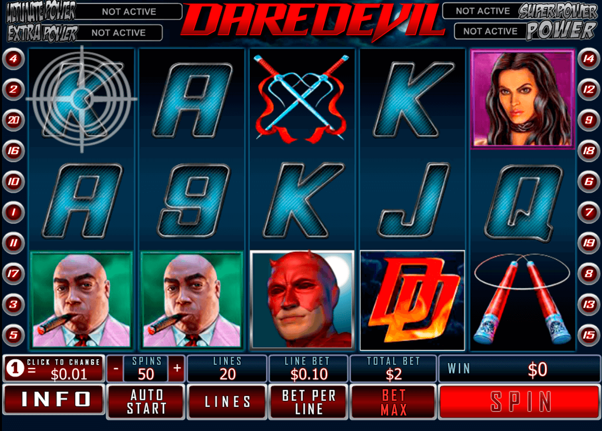 daredevil playtech casinospil online