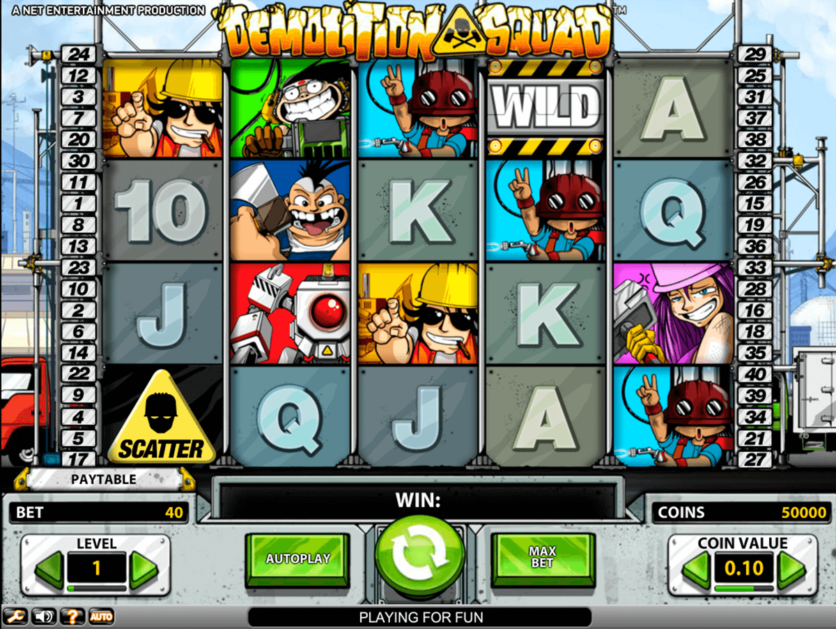 demolition squad netent casinospil online