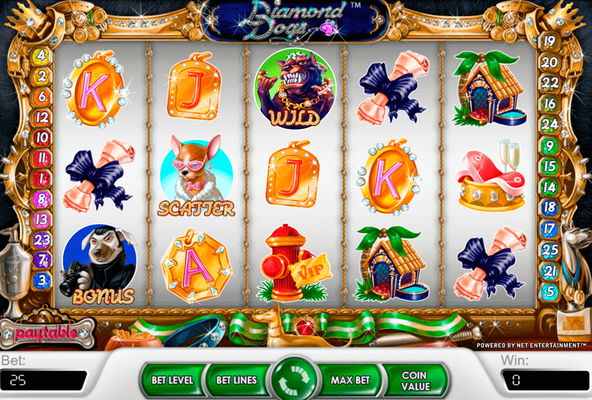 diamond dogs netent casinospil online