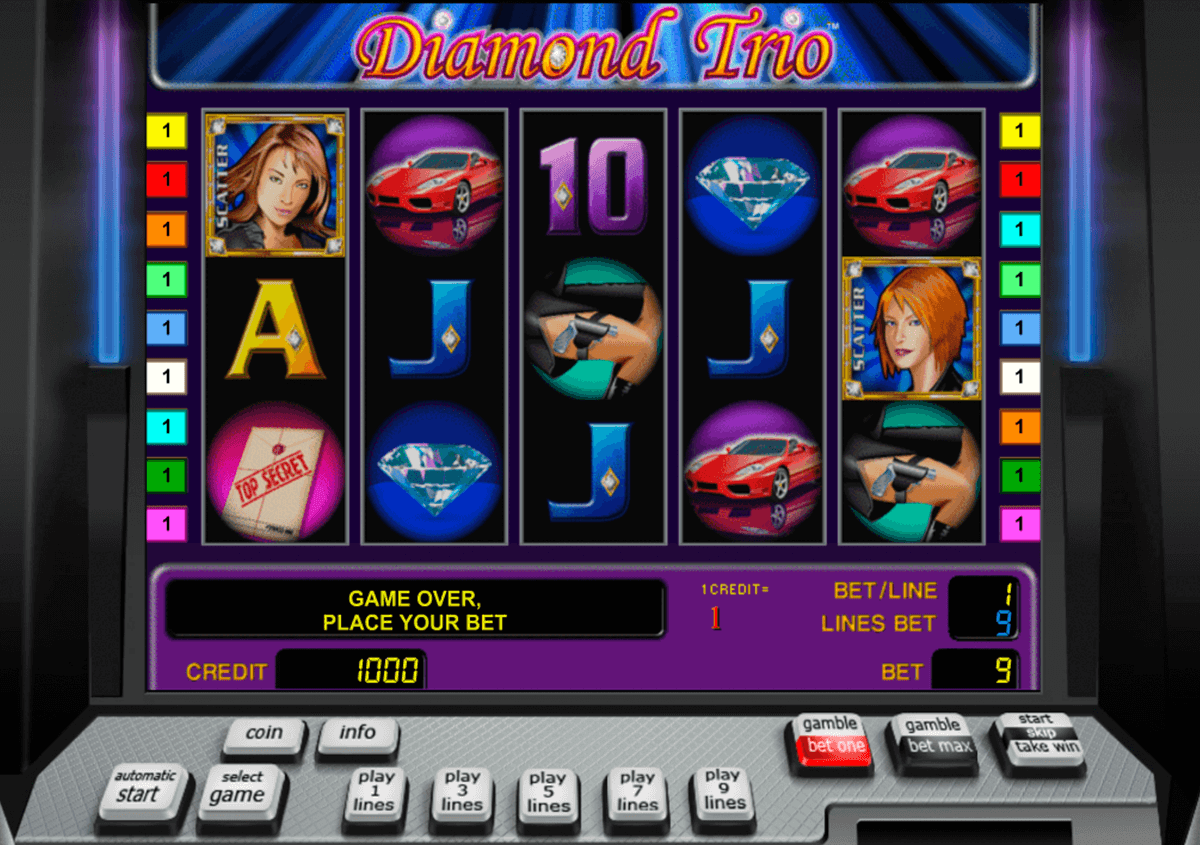 diamond trio novomatic casinospil online