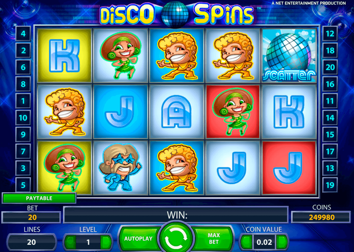 disco spins netent casinospil online