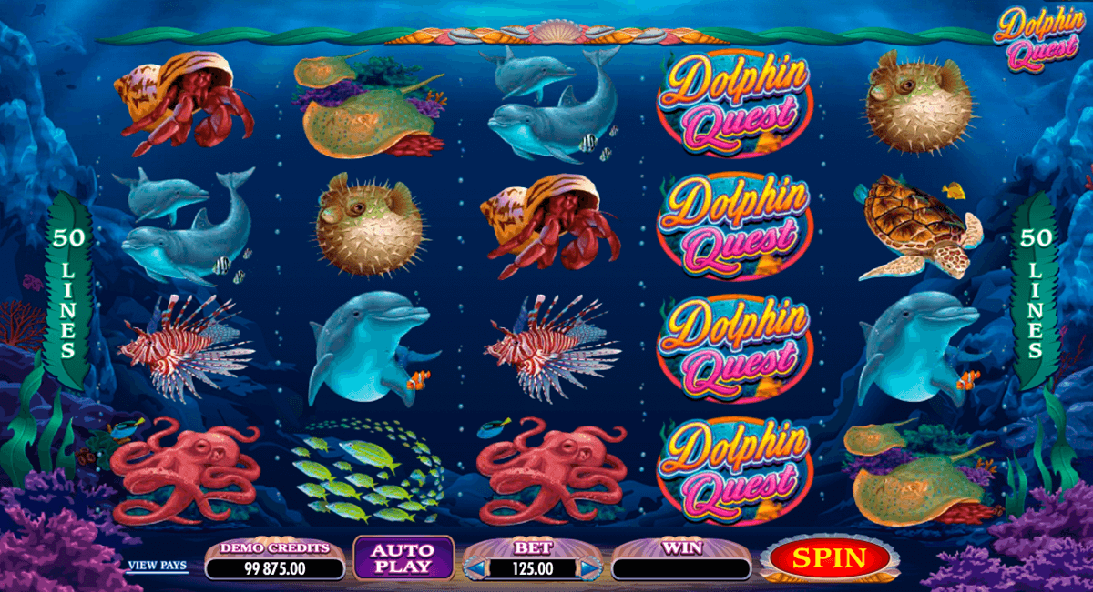 dolphin quest microgaming casinospil online