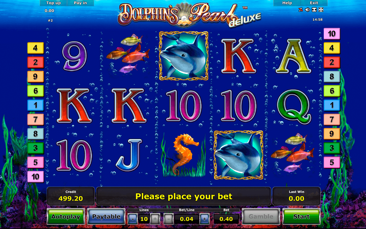 dolphins pearl deluxe novomatic casinospil online