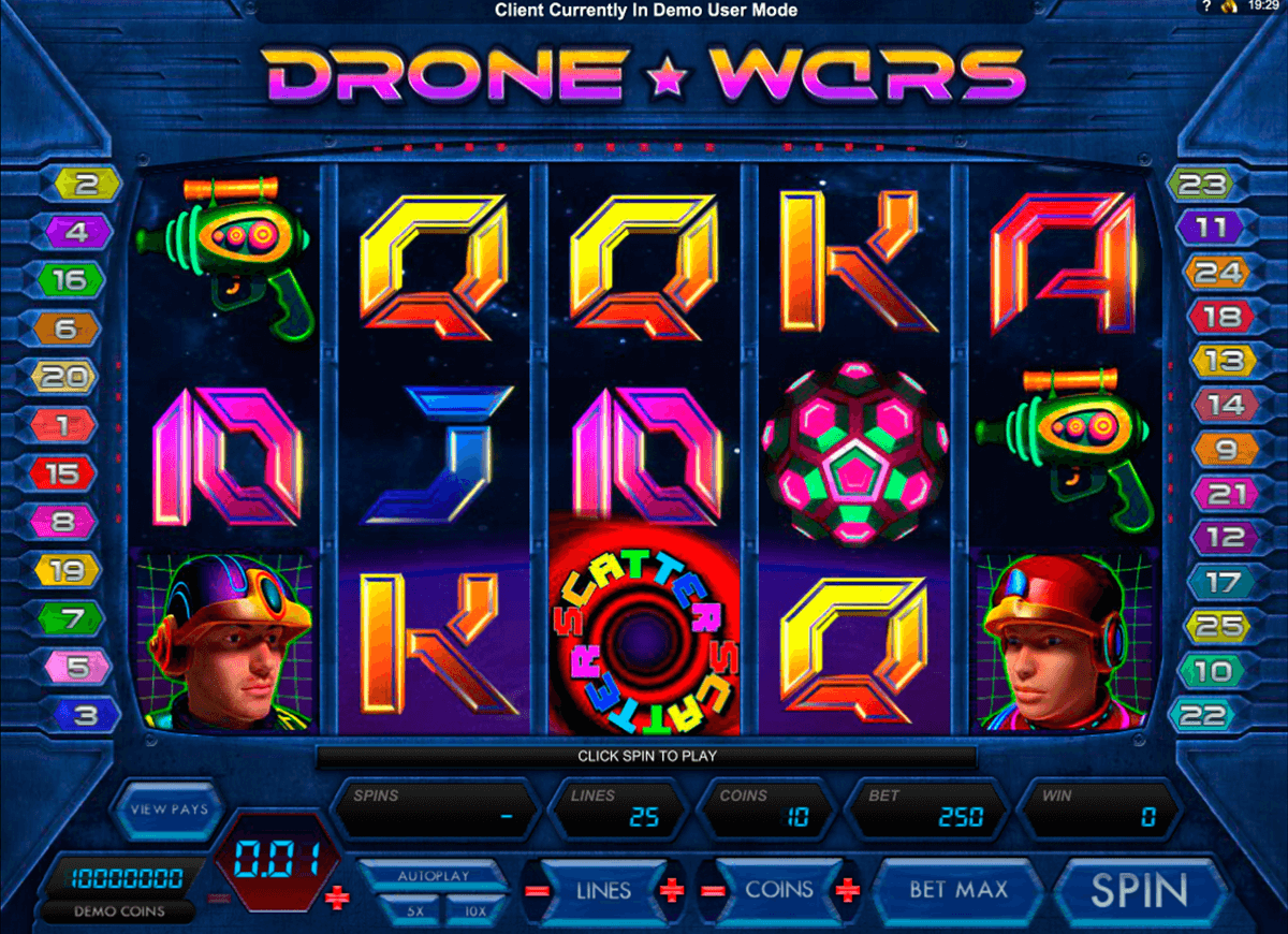 drone wars microgaming casinospil online