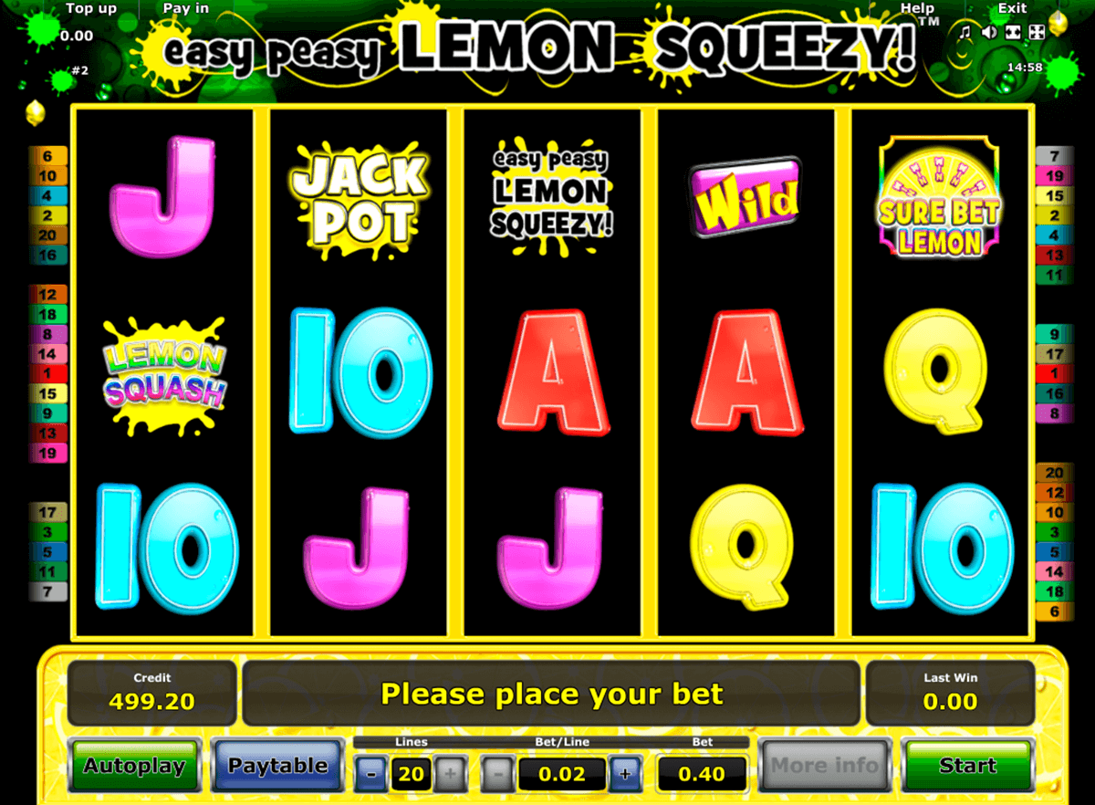 easy peasy lemon squeezy novomatic casinospil online