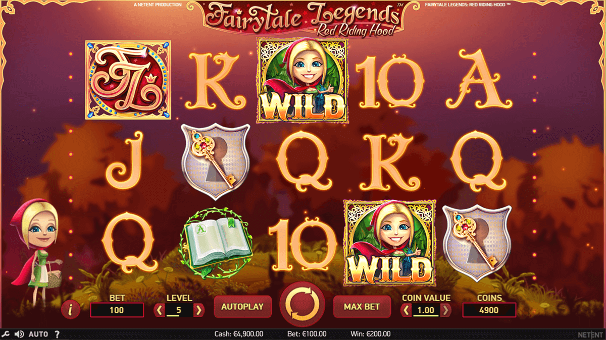 fairytale legends red riding hood netent casinospil online