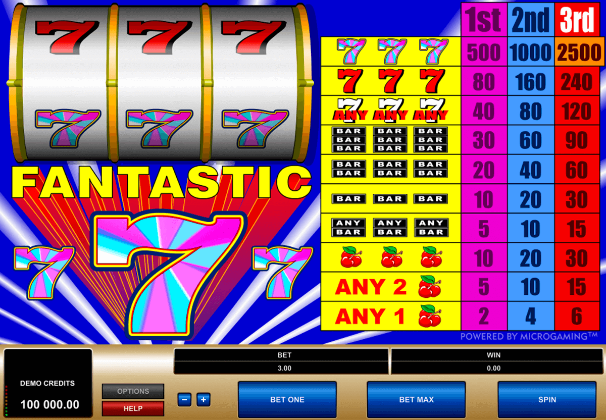 fantastic 7s microgaming casinospil online